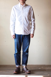 WORKERS Modified BD Shirt Supima Cotton White OX-1