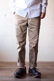 Workers Officer Trousers Slim Type2 Beige-1