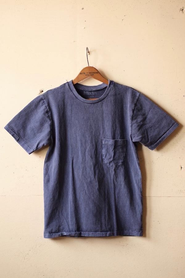Mixta (ミクスタ) Crew Neck Pocket T-Shirt, Night Ocean-1