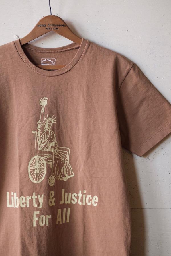 Mixta Printed Tee Liberty & Justice Camel-1