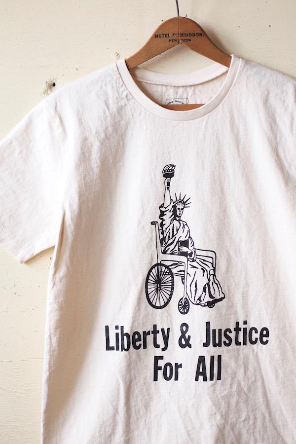 Mixta Printed Tee Liberty & Justice Natural-1