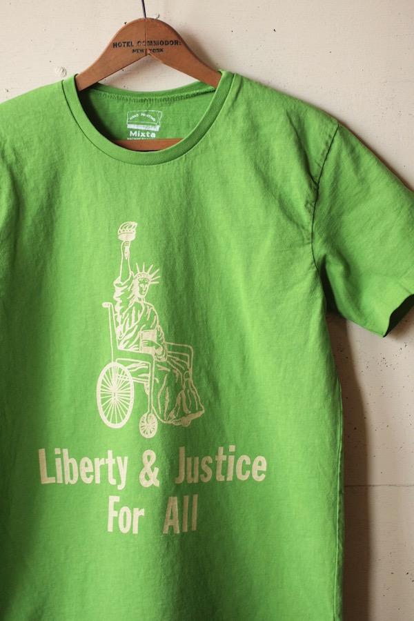 Mixta Printed Tee Liberty & Justice Pistachio-1