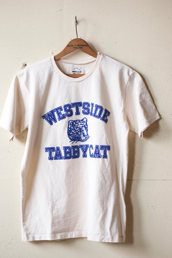 Mixta Printed Tee Tabby Cat 19 Natural-1