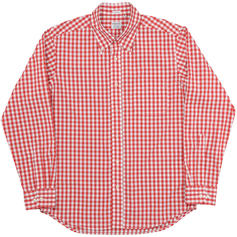 Modified BD 2020 Red Gingham Broad Cloth