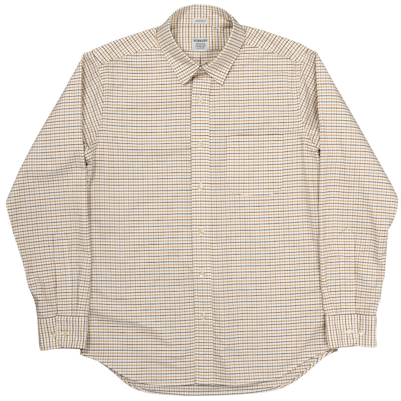 Modified Regular Collar Shirt Tattersall OX