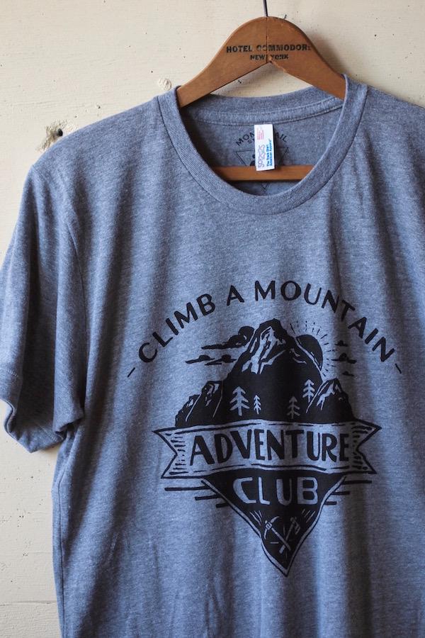 Monorail Studio T-Shirt Adventure Club Athletic Grey-1