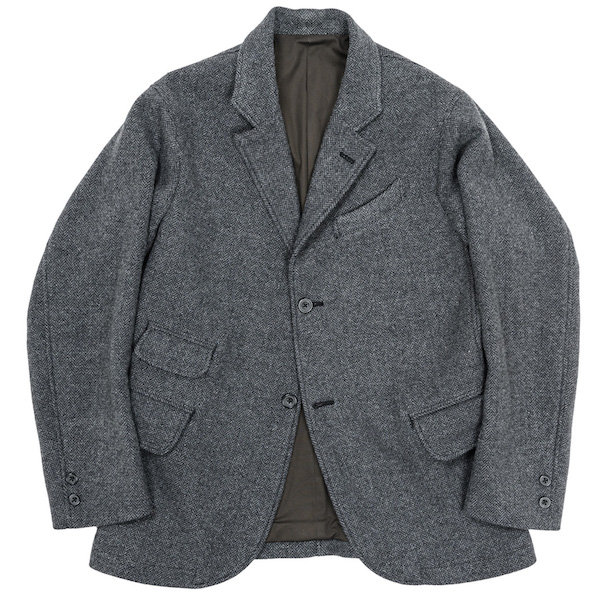 Moonglow JKT Grey Herringbone Tweed