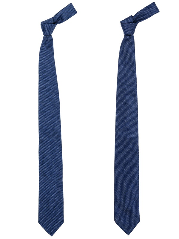 Narrow Silk Tie Fresco Navy