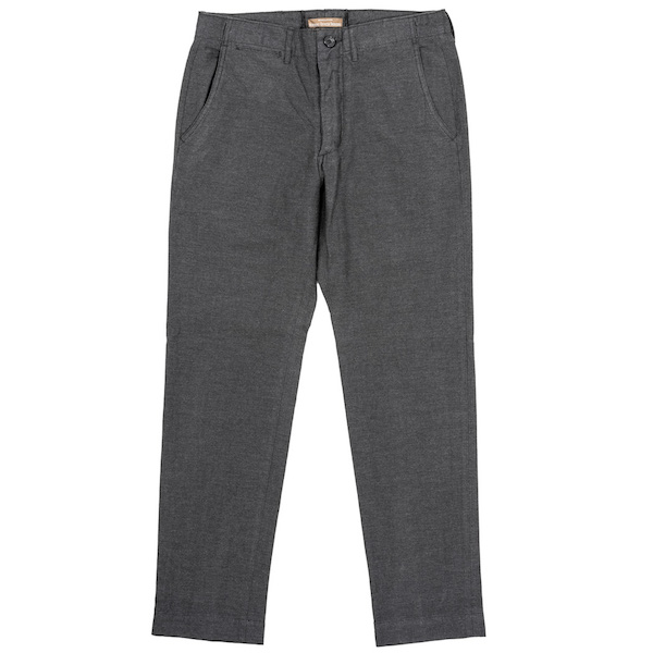 Officer Trousers Slim Type-1 Yarn Dyed Twill Grey