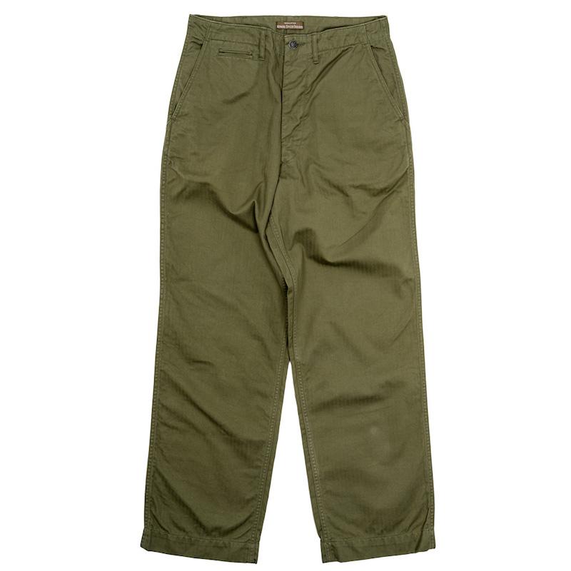 Officer Trousers Vintage Type-2 Herringbone OD