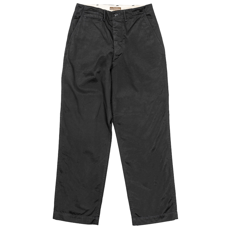 Officer Trousers Vintage Type-2 Black Chino