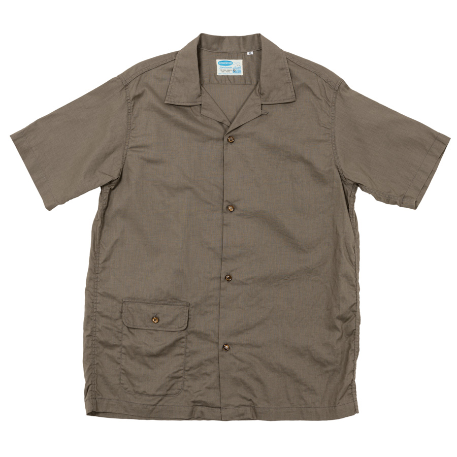 Open Collar Shirt Khaki