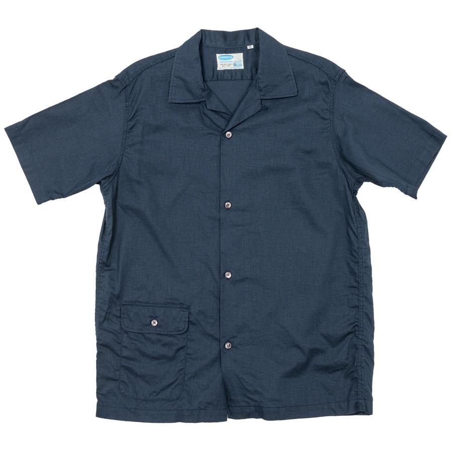 Open Collar Shirt Navy