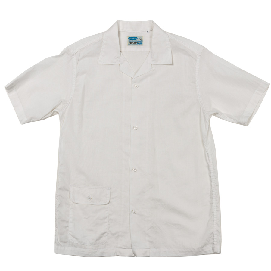 Open Collar Shirt White