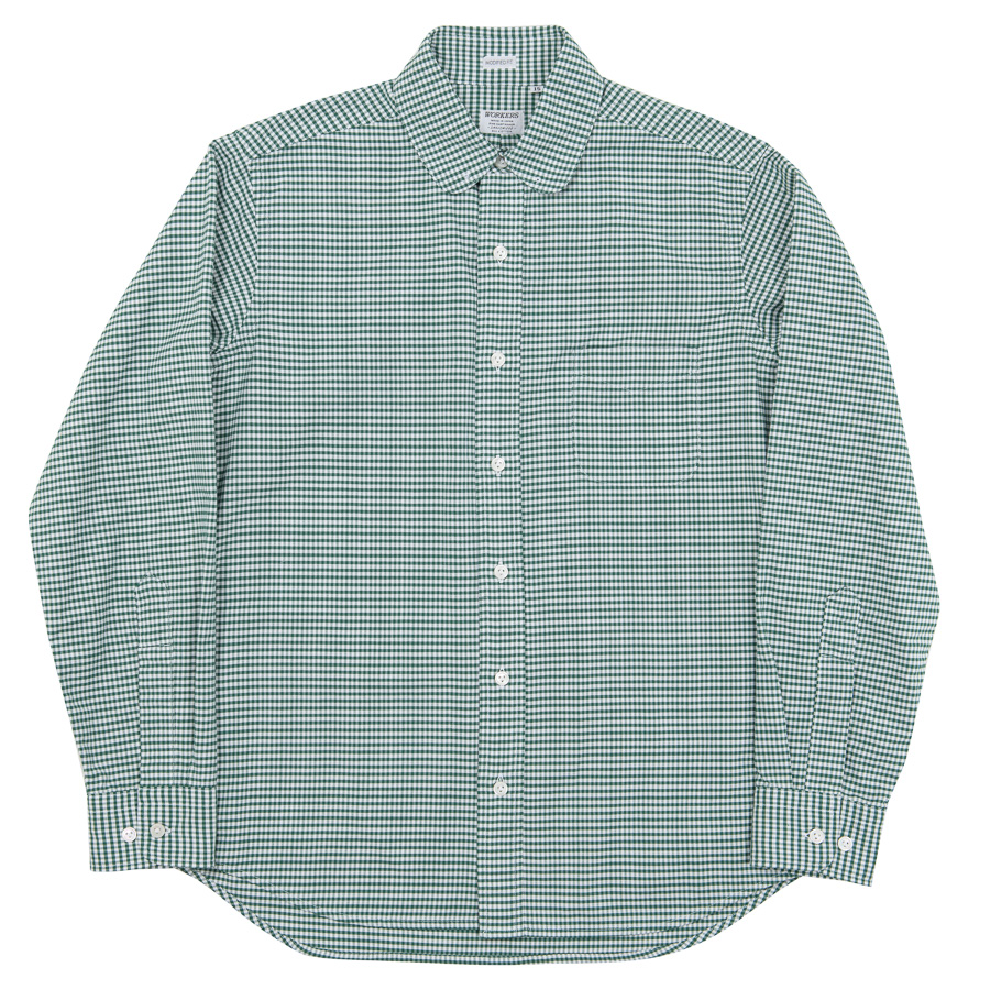 Pinhole Shirt Green Check