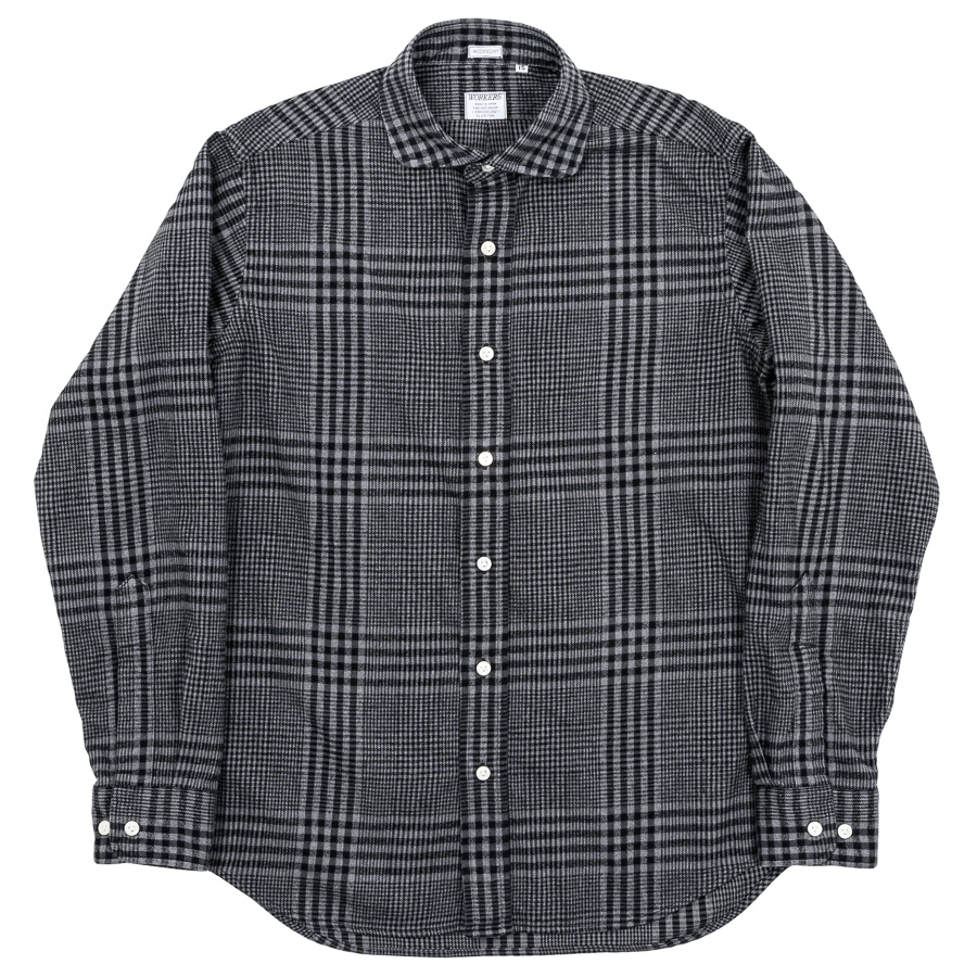 Round Cutaway Shirt Check Cotton Viyella