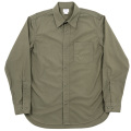 1-Pocket Work Shirt Olive Poplin