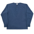 6oz L/S Tee Henry Neck, Navy
