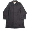 Bal Collar Coat Cotton Gabardine Black