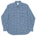 Basic Work Shirt Indigo Check