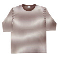 Border Tee Half Ecru-Brown