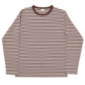 Border Tee Long Ecru-Brown
