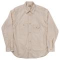 Cigaret Pocket Shirt-White Chambray