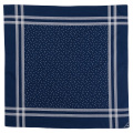 Cotton Sateen Scarf Blue Star Dot