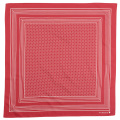 Cotton Sateen Scarf Red Dot