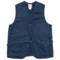 Cruiser Vest Cotton Linen Navy