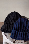 DECK HAND Cotton Indigo Bob Cap 2×2 Rib-1