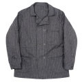 Double Front JKT Covert Herringbone Stripe