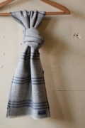 FARIBAULT Tri-Stripe Scarf, Gray-1