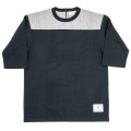 Football Tee Plain 2-Tone Black×Grey