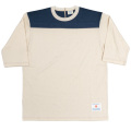 Football Tee Plain 2-Tone Oatmeal×Navy