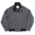 Harrington JKT Grey Herringbone Tweed