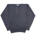 Henley Neck Sweater Faded Black