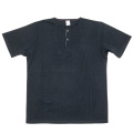 Henley Neck Tee Black