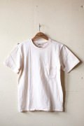 Mixta (ミクスタ) Crew Neck Pocket T-Shirt, Natural-1