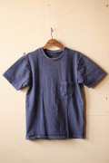 Mixta (ミクスタ) Crew Neck Pocket T-Shirt, Night Ocean-1