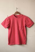 Mixta (ミクスタ) Crew Neck Pocket T-Shirt, Sunset Red-1