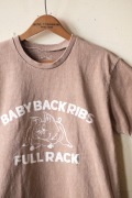 Mixta Printed Tee Baby Back Ribs Camel-1