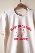 Mixta Printed Tee Baby Back Ribs Natural-1
