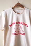Mixta Printed Tee Baby Back Ribs Natural-1