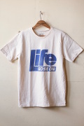 MIXTA Printed Tee LIFE GOES ON (Blue) Natural-1