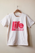 MIXTA Printed Tee LIFE GOES ON (RED) Natural-1