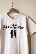 Mixta (ミクスタ) Printed T-Shirt, Same Difference Natural-1