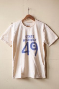 Mixta Printed Tee State Highway 49 Natural-1