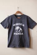 Mixta Printed Tee WHODA PANDA Vintage Black-1