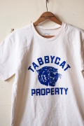 Mixta Printed Tee Tabby Cat 21 Natural-1
